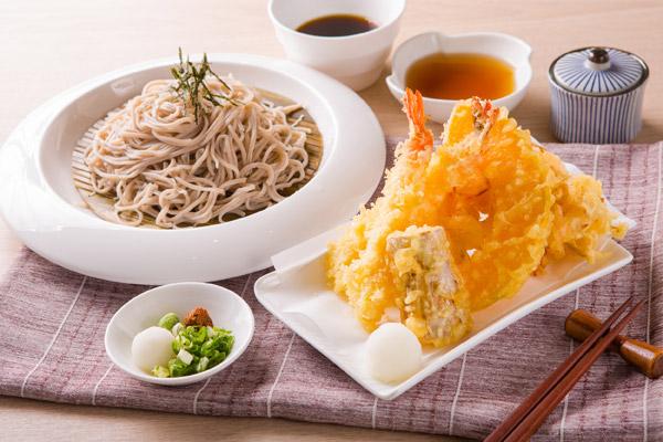 日本蕎麥麵專門店、各式天婦羅、信州風炸雞